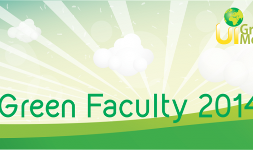 UI Gelar Greenmetric Faculty Ranking 2014