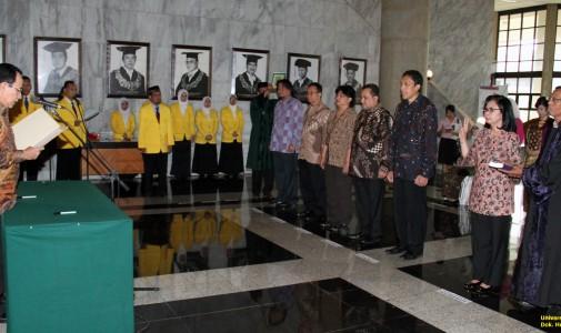 UI Lantik Wakil Rektor Periode 2014-2019