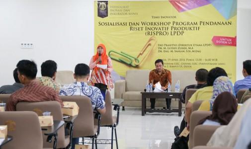 Sosialisasi dan Workshop Rispro LPDP