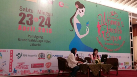 Mempromosikan Gaya Hidup Sehat  bagi Wanita di Womens Health Expo & Bazaar 2016
