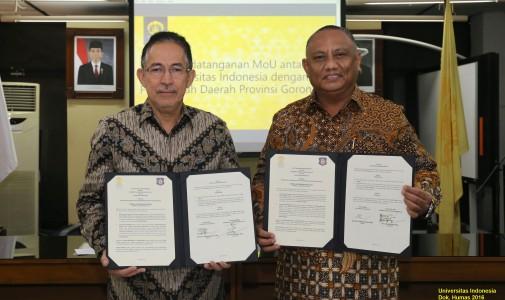 Pemerintah Gorontalo Gandeng UI Kerja Sama Bidang Pendidikan