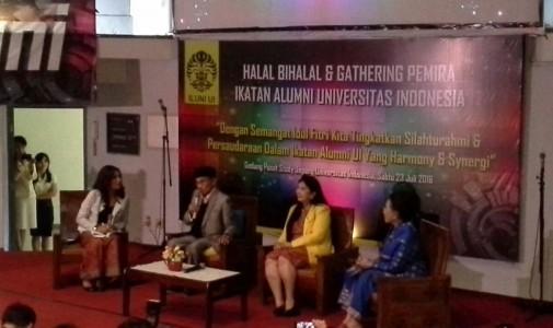 BJ Habibie Ungkap Harapannya untuk SDM Indonesia di Acara Halal Bihalal ILUNI UI