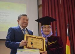 UI Professor Awarded Honorary Professor Title from Kazakhstan
