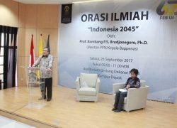 Menteri Bappenas RI Jelaskan Proyeksi Indonesia Tahun 2045 di UI