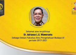 Petahana Adrianus L.G. Waworuntu Lanjutkan Kepemimpinan di FIB UI