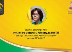Maria Francisca Lindawati Menjadi Dekan FKG UI Yang Baru