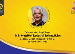 Hendri D.S Budiono Terpilih Sebagai Dekan FTUI 2018-2022