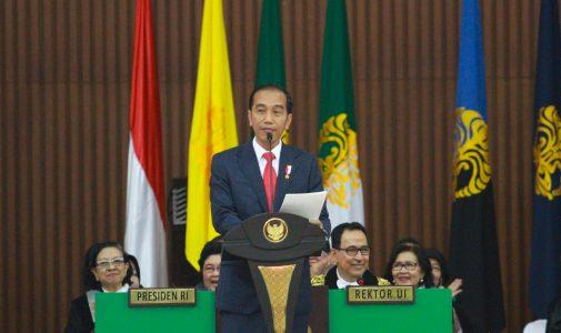 Jokowi Hadiri Dies Natalis ke-68 UI