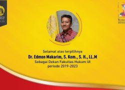 Edmon Makarim Terpilih Sebagai Dekan FHUI 2019-2023