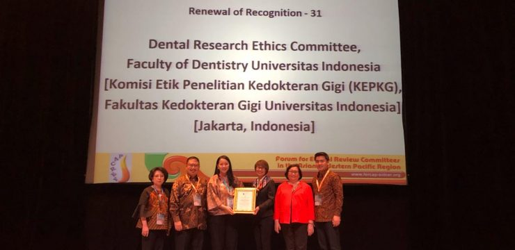 Research Ethics Committee of the Faculty of Dentistry UI Obtained International Recognition
